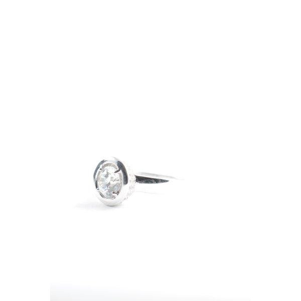 diamonfire Silberring silberfarben klassischer Stil