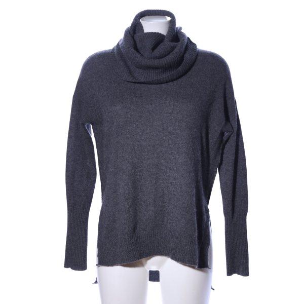 Diane von Furstenberg Turtleneck Sweater light grey flecked casual look