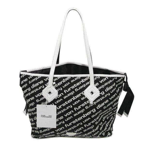 Diane von Furstenberg Schultertasche in Schwarz / Weiß