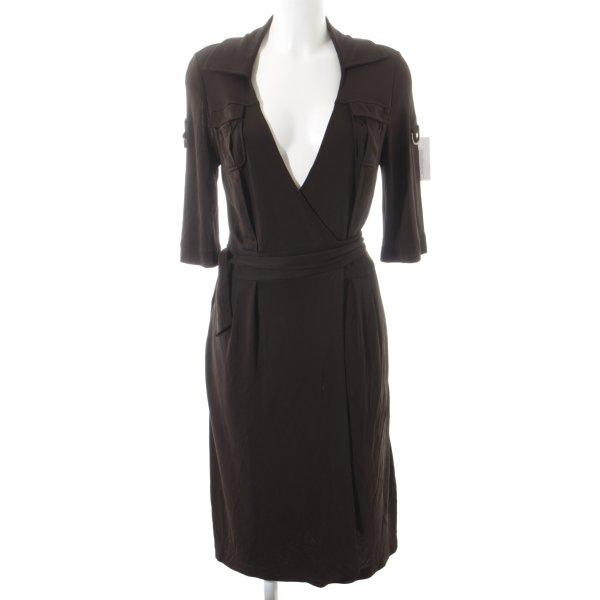 Diane von Furstenberg Wickelkleid dunkelbraun Business-Look