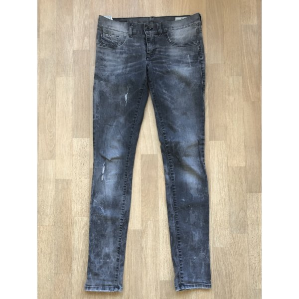 Diesel Jeans ripped grey denim