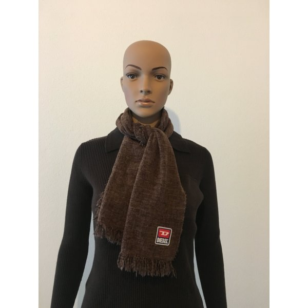 Diesel Knitted Scarf cognac-coloured-light brown
