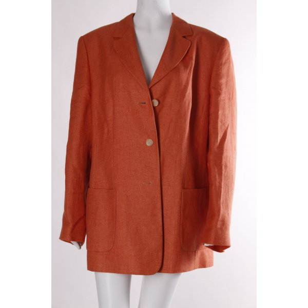 Dinomoda Long-Blazer hellorange Business-Look