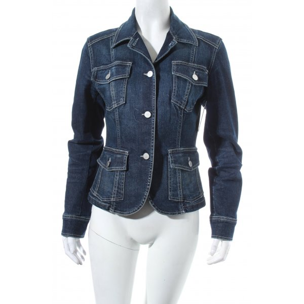 Dinovaliano Denim Blazer dark blue washed look