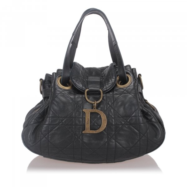 Dior Cannage Leather Shoulder Bag