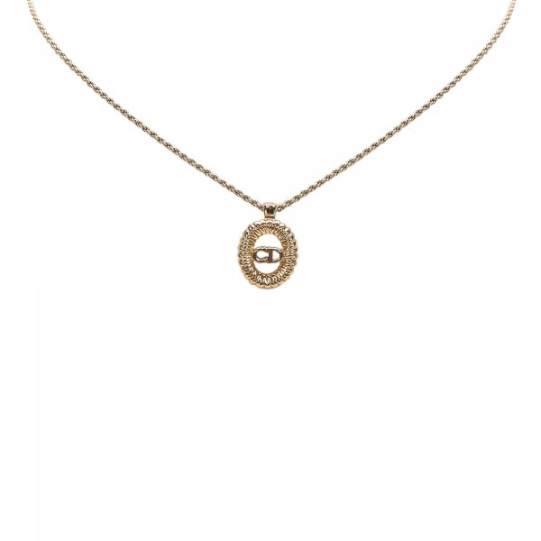 Dior Gold-Tone Pendant Necklace