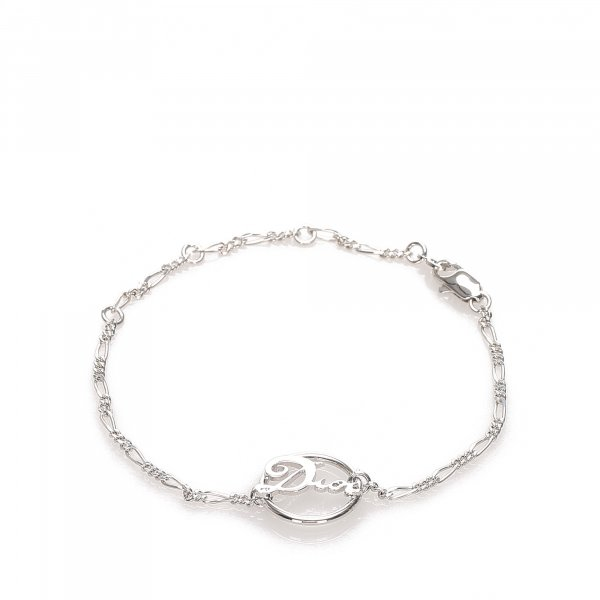 Dior Silver-Tone Chain Bracelet
