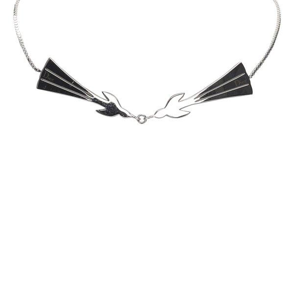 Dior Silver-Tone Pendant Necklace