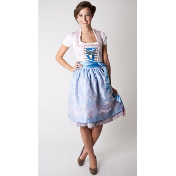 Dirndl in Rose Quartz und Serenity