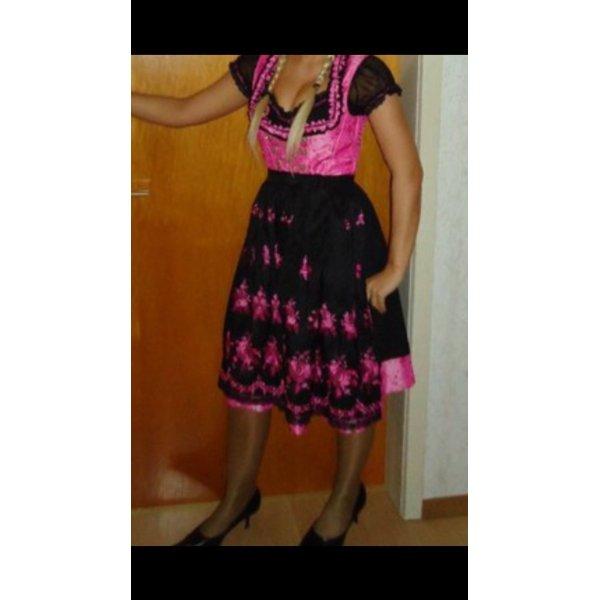 Dirndl in schwarz Pink