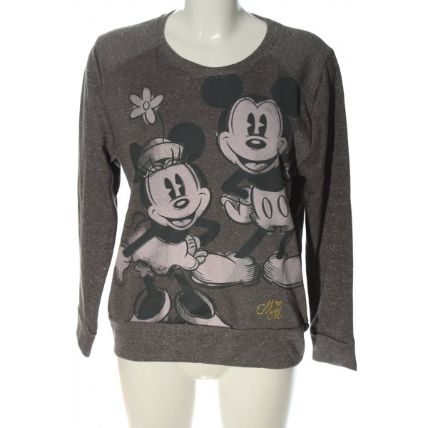 Disney Sweatshirt hellgrau Allover-Druck Casual-Look