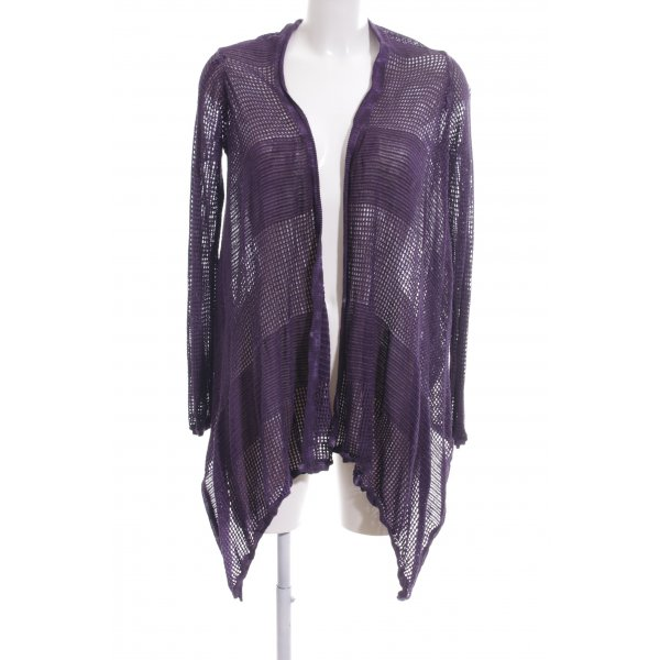 DKNY Jeans Strick Cardigan lila Webmuster Casual-Look