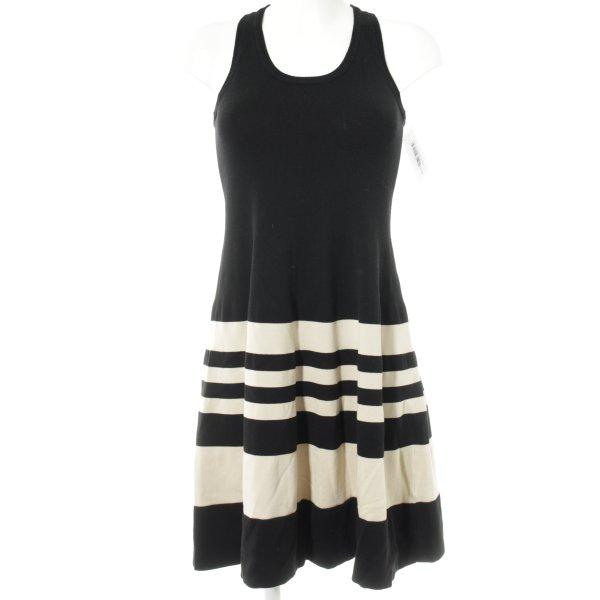DKNY Stretchkleid schwarz-creme Casual-Look