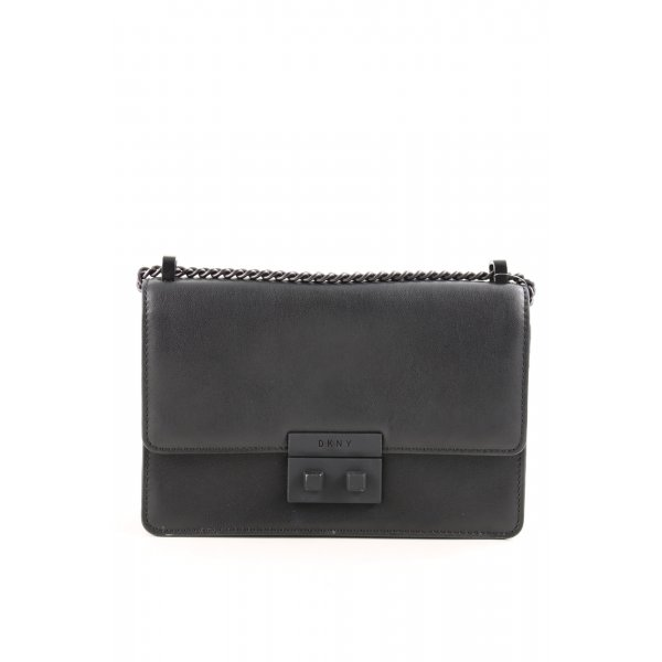 "DKNY Umhängetasche ""Ann MD Flap Crossbody Bag Black/Black"" schwarz"