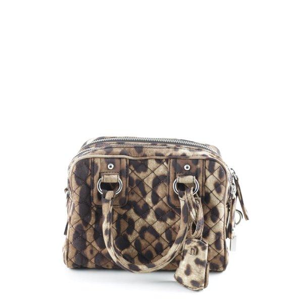 Dolce & Gabbana Henkeltasche sandbraun-taupe Leomuster Safari-Look