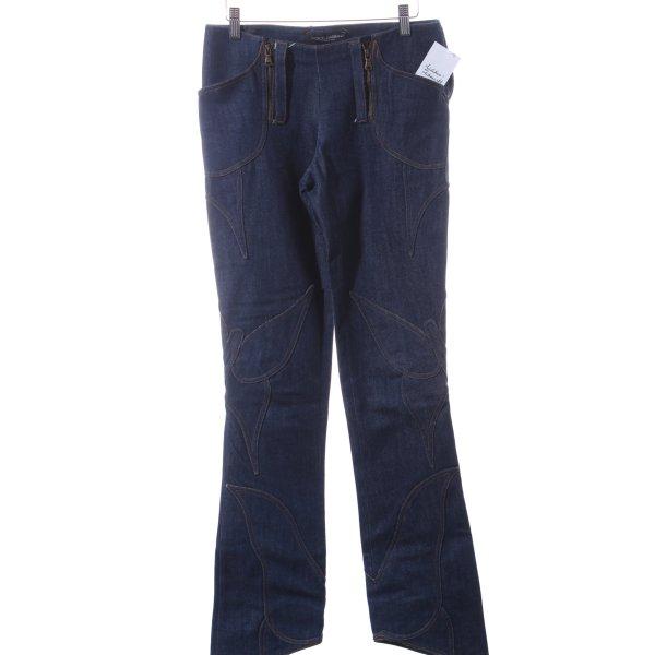 Dolce & Gabbana High Waist Jeans blau 70ies-Stil