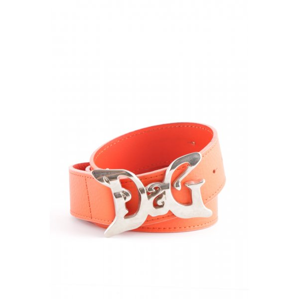 Dolce & Gabbana Ledergürtel rot Casual-Look