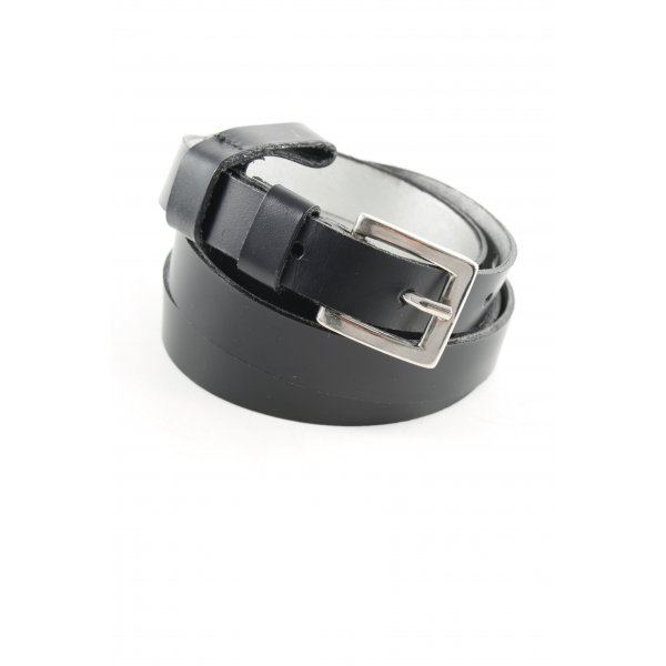Dolce & Gabbana Ledergürtel schwarz-silberfarben Casual-Look
