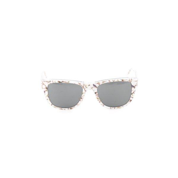 Dolce & Gabbana ovale Sonnenbrille hellgrau-weiß Animalmuster Business-Look