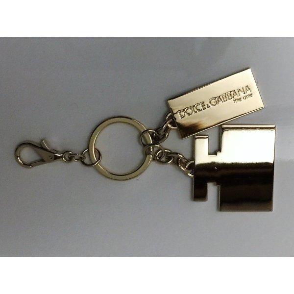 Dolce & Gabbana Porte-clés doré métal