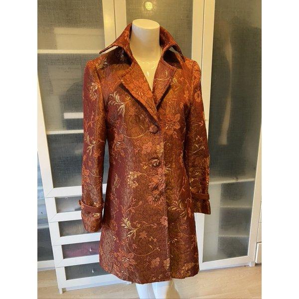 Dolce & Gabbana Seiden Brokat Mantel Gr. 38