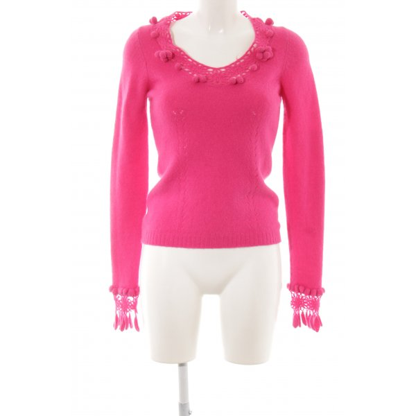 Dolce & Gabbana Strickpullover pink Zopfmuster Casual-Look