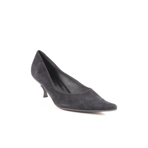 Donna Carolina Spitse pumps zwart zakelijke stijl