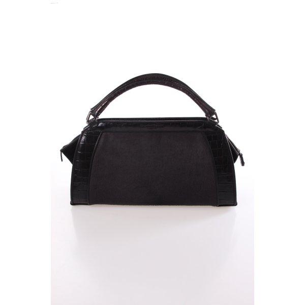 Donna Karan Hydroform Handbag Haircalf Anthracite Small