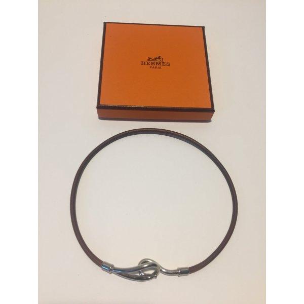 Double Tour Leder-Armband oder Halsband von Hermès
