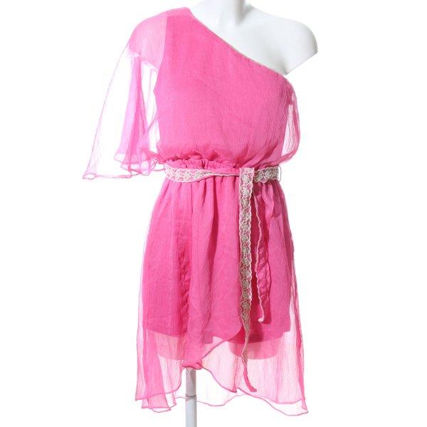 Double Zero One-Shoulder-Kleid pink Elegant