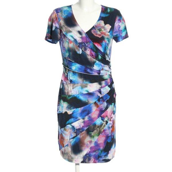 Dresses Unlimited Kurzarmkleid Allover-Druck Elegant