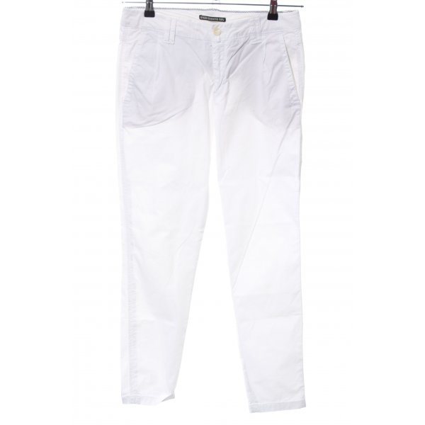 Drykorn Chinohose weiß Casual-Look