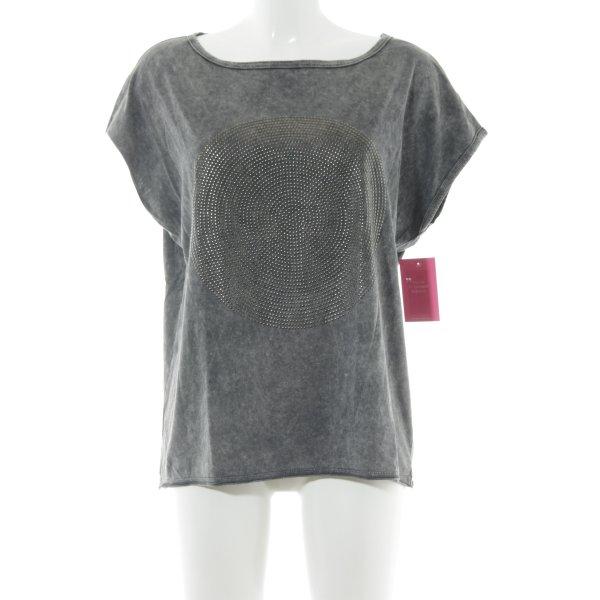 Drykorn T-Shirt dunkelgrau-hellgrau Casual-Look