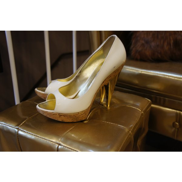 DSQUARED Pumps Größe 38 Lackleder gold