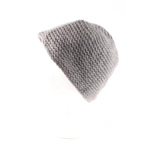 dtLm Don't Label me Chapeau en tricot gris style décontracté