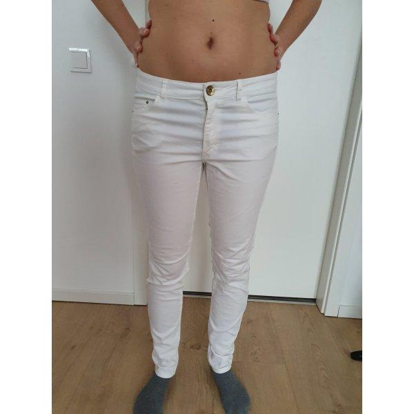 dünne Stoffhose / Jeans für den Sommer - weiß