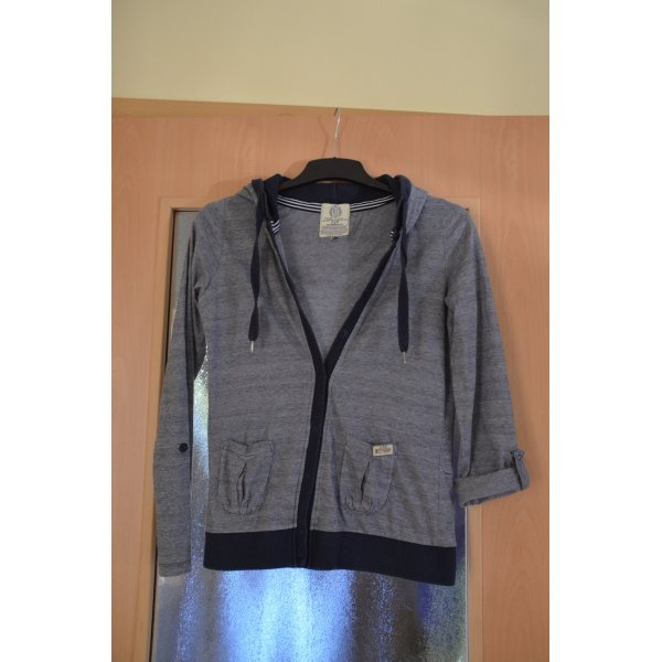 LTB Shirt Jacket white-dark blue