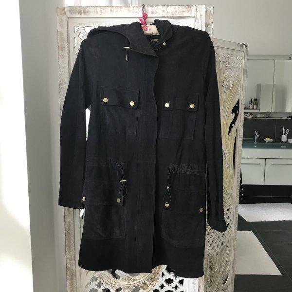 Michael Kors Hooded Coat gold-colored-dark blue