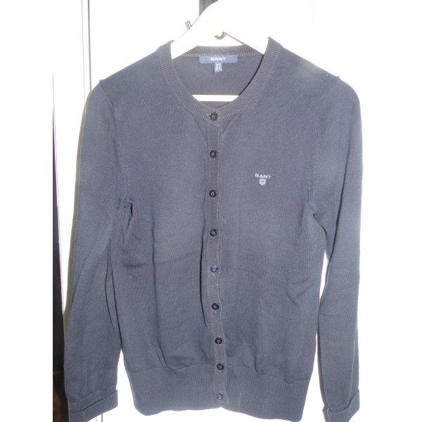 dunkelblaue Strickjacke von Gant