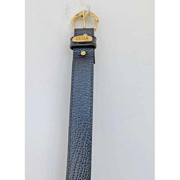 no name Faux Leather Belt dark blue mixture fibre