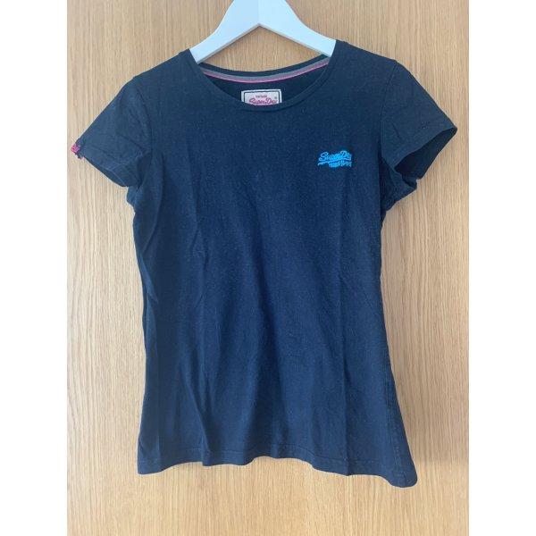 dunkelblaues T-Shirt Superdry