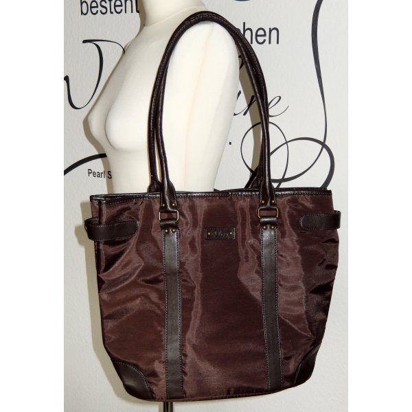 Dunkelbrauner Shopper