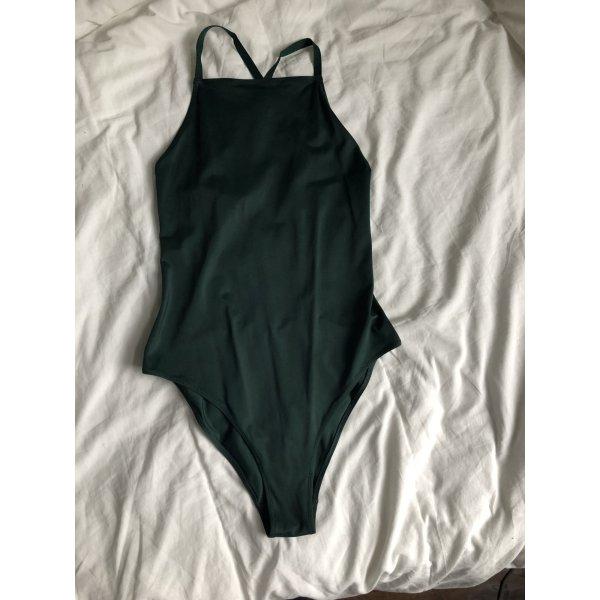 Weekday Costume da bagno verde bosco-verde scuro