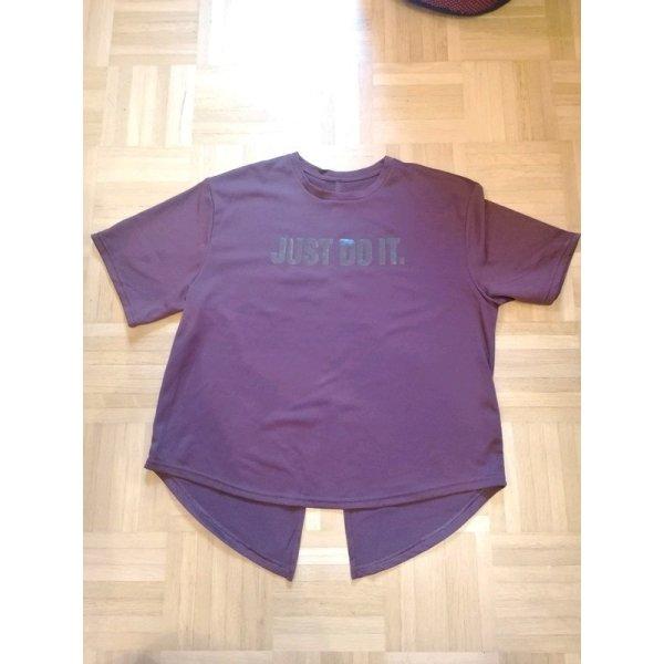"""Dunkelrot-lila Sport T-Shirt """"Just Do It"""""""