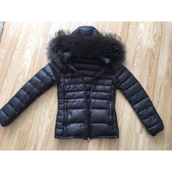 Duvetica adhara echtfell Daunenjacke Jacke echtfell schwarz xs 34