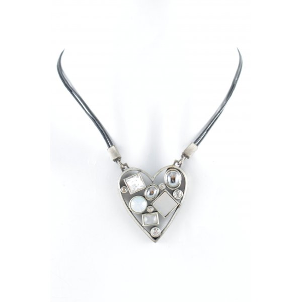 Dyrberg/Kern Halskette schwarz-silberfarben Casual-Look