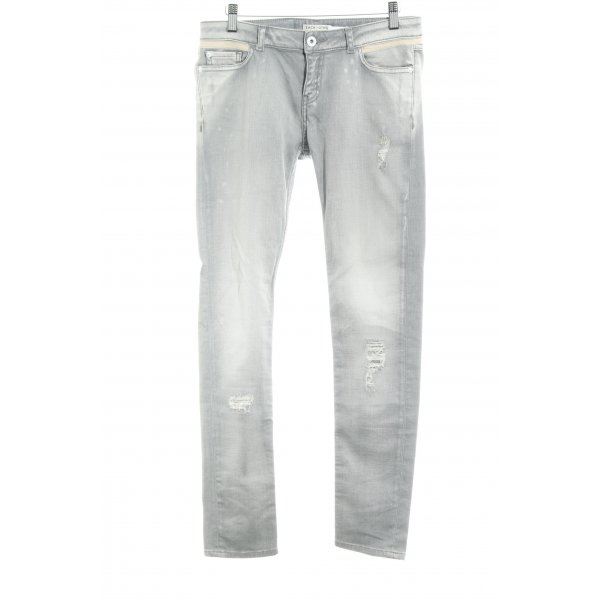 Each & Other Skinny Jeans hellgrau-creme Casual-Look