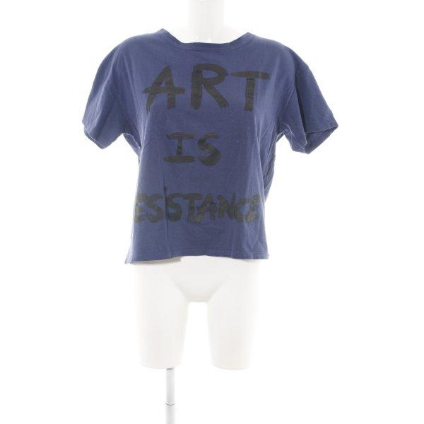 Each & Other T-Shirt blau-schwarz Motivdruck sportlicher Stil