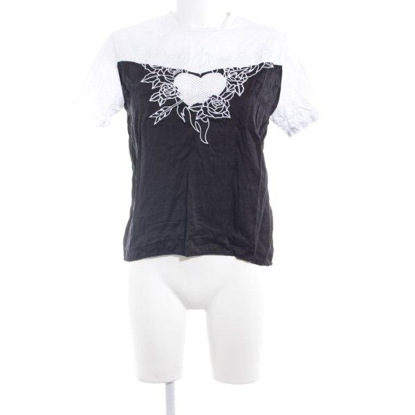 Each & Other T-Shirt schwarz-weiß Casual-Look