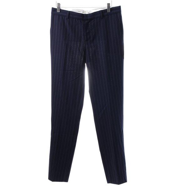 Each & Other High-Waist Hose dunkelblau-weiß Business-Look